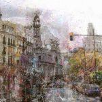 Plaza del Ayuntamiento. 150x150cm 2800€