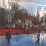"""""""Ayuntamiento en Navidad"""" (81x54cm.) 150€"""