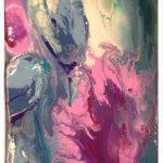 "M. Ciurana ""Deconstruccion floral I"" (30x60cm.) Acrílico s/lienzo 3D 400 € con la pareja 650 €"