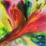 """Emergencia floral"" 120x120 acrílico s/lienzo 3D 1300€"