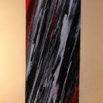 Marea volcánica 40x150 cm. Acrílico s/plancha metacrilato y basa acero inox 1800€