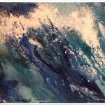 """M. Ciurana """"Jugando con la marea"""" (50x40cm.) Acrílico s/lienzo 3D 400€"""