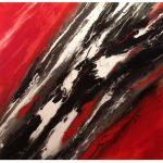 """M. Ciurana """"Marea volcánica"""" (120x120cm.) Acrílicos/lienzo 3D 1.300€"""