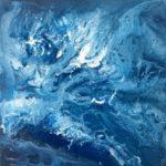 """M. Ciurana """"Oleaje Nº 10"""" (30x30cm.) Acrílico s/lienzo 3D 300€"""