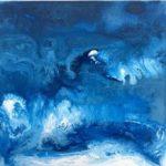 """M. Ciurana """"Oleajes Nº 5"""" (30x30cm.) Acrílico s/lienzo 300 €"""