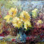 "C. Giner ""Bouquet en amarillos"" (61x46cm.) Óleo 950€"