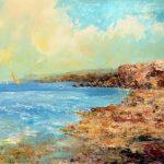 "C. Giner ""Cabo de Gata"" (73x50cm.) Óleo 1.200€"