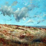 "C. Giner ""Nubes. Andilla"" (100x65cm.) Óleo 1.900€"