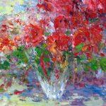 "C. Giner ""Rojo amapola"" (41x27cm.) óleo 500€"