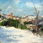"C. Giner ""Última nevada. Andilla"" (81x60cm.) óleo 1.600€"