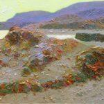 "P. Roldán ""Luz de tarde. Cabo de Gata"" Óleo (60 x 25 cm.) 2.700€"