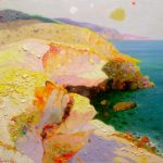 """P. Roldán """"Mañana de luz. Cabo de Gata"""" Óleo (25 x 25 cm.) 1.400€"""