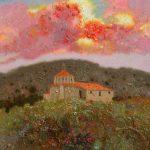 """P. Roldán """"Nuevo día. Campo en Teruel"""" Óleo (25 x 25 cm.) 1.400€"""