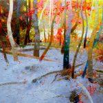 """P. Roldán """"Primeras nieves. Ordesa"""" Óleo (50 x 43 cm.) 2.400€"""