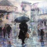 """J. Coyto """"Días de Lluvia """" (42X70 cm.) 400€"""