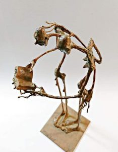 J. Ortiz. Pieza única -Estaño- (30x15x10 cm.) 950€