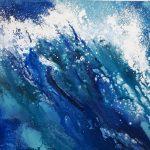 """M. Ciurana """"Serie oleaje"""" Acrílico sobre lienzo (30 x 30 cm.) 300€ (Más de dos uds. = 250€ ud.)"""