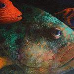 """Nicoletta """"Amistad submarina"""" Acrílico (150x60 cm.) 4.592,5€"""