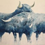 "R. Pommer ""La dehesa"" Acrílico (180 x 130 cm.) 1.400 €"