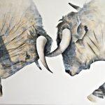 "R. Pommer ""Amanecer"" Acrílico (185 x 134 cm.) 1.400 €"