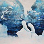 """R. Pommer """"En la tempestad"""" Acrílico (160 x 80 cm.) 950 €"""