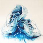 """R. Pommer """"Después de la lluvia"""" Acrílico (170 x 130 cm.) 1.200 €"""