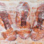"""R. Pommer """"El silencio"""" Acrílico (160 x 80 cm.) 950 €"""