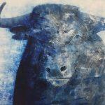 """R. Pommer """"Impresión"""" Acrílico (170 x 130 cm.) 1.400 €"""