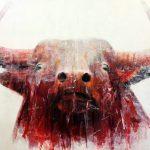 """R. Pommer """"La visión"""" Acrílico (170 x 130 cm.) 1.400€"""