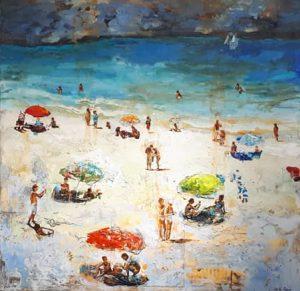 J. Azrí -Técnica mixta- (120 x 124 cm.) 3.400€