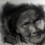 Luam - Anciana - Grafico y carboncillo - 63x49 - 700,00€