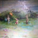Regina P. Alonso - Niños jugando en la playa - Óleo - 60x85 - 1.200,00€