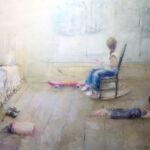 Regina P. Alonso - Habitación blanca - Óleo - 122x50 - 2.400,00€