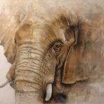 Ricardo Pommer - Elefante - Óleo - 180x130 - 1.600,00 €