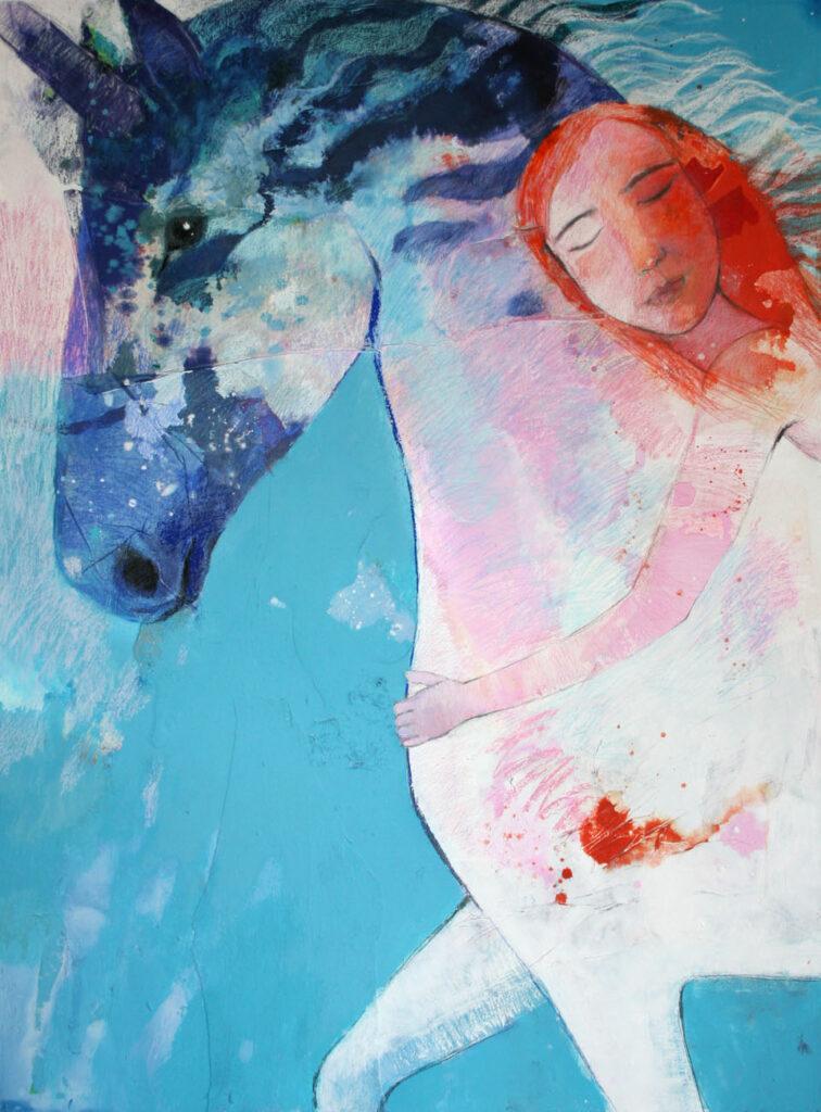 Sueño del unicornio 131x97 cm. Tec. Mixta